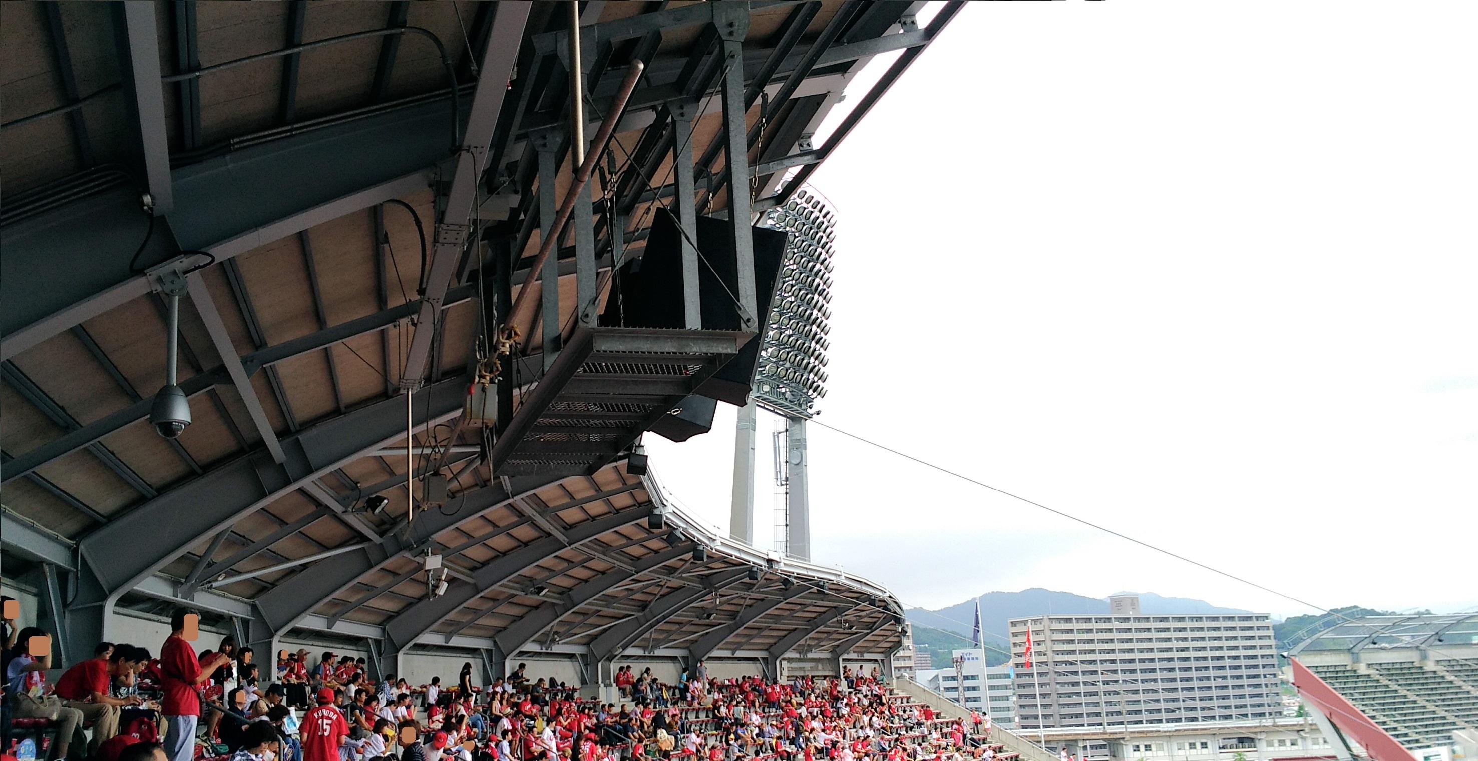 雨天でも大丈夫!【内野自由席】の「良席」確保について考察してみました! ‐ 2017年プロ野球・広島カープ・マツダスタジアム徹底ガイド 21 ‐